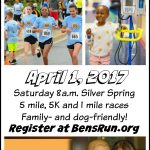 Silver Spring Family Run April 1st: Ben's Run to Benefit Children's National and Pediatric Cancer Research