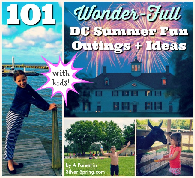 DC Summer with Kids outings ideas