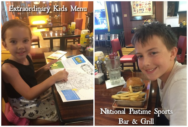 kids menu sports bar