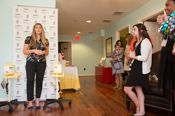 Medea is joined by local bloggers and Forty Weeks at the Washington D.C. Ronald McDonald House on the occasion of Medela's donation of two new hospital grade breast pumps on Friday, August 21, 2015.
